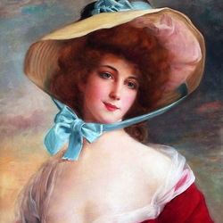 Jigsaw puzzle: Portrait of a woman in a hat