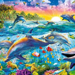 Jigsaw puzzle: In the kingdom of dolphins