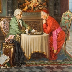 Jigsaw puzzle: Chess games