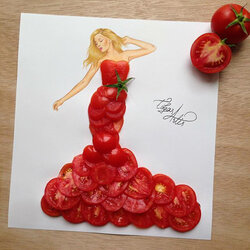 Jigsaw puzzle: Tomato dress