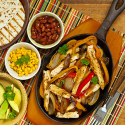 Jigsaw puzzle: Fajitos with chicken