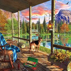 Jigsaw puzzle: House in the mountains
