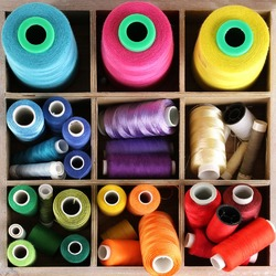 Jigsaw puzzle: Spools of thread