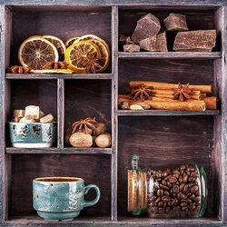 Jigsaw puzzle: Spiced coffee