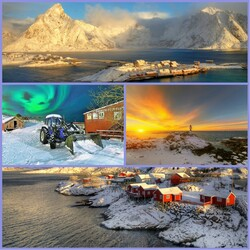 Jigsaw puzzle: Winter in Lofoten