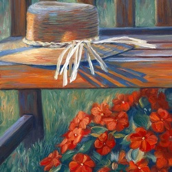 Jigsaw puzzle: Hat and geranium