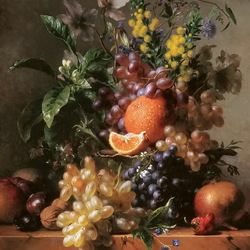 Jigsaw puzzle: Still life with grapes