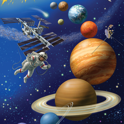 Jigsaw puzzle: Space will definitely be ours