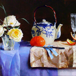 Jigsaw puzzle: Still life with tangerine