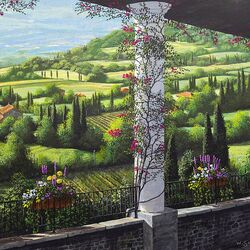 Jigsaw puzzle: Terrace in Tuscany