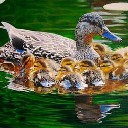 Jigsaw puzzle: Mom with babies