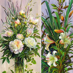 Jigsaw puzzle: Peonies and lilies