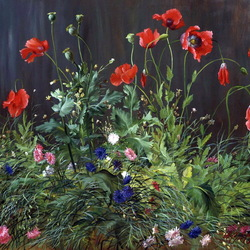 Jigsaw puzzle: Poppies and cornflowers