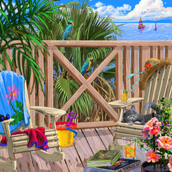 Jigsaw puzzle: Peaceful paradise