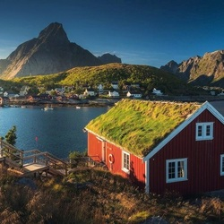 Jigsaw puzzle: Fishing village in Norway