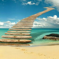 Jigsaw puzzle: stairway to Heaven
