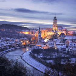 Jigsaw puzzle: Winter Krumlov