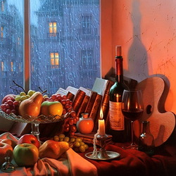 Jigsaw puzzle: Still life with rain