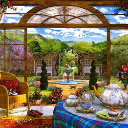 Jigsaw puzzle: Pleasant tea party