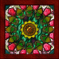 Jigsaw puzzle: Stained glass kaleidoscope