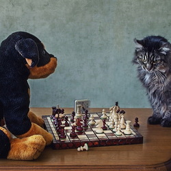 Jigsaw puzzle: Chess players