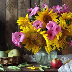 Jigsaw puzzle: Bouquet with sunflowers