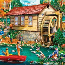 Jigsaw puzzle: At the mill
