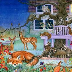 Jigsaw puzzle: Night guests