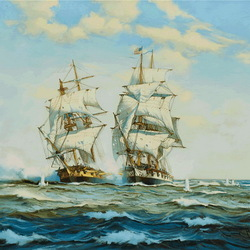 Jigsaw puzzle: Sea battle