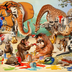 Jigsaw puzzle: Colorful zoo