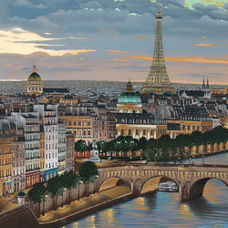 Jigsaw puzzle: Love with the beautiful name Paris