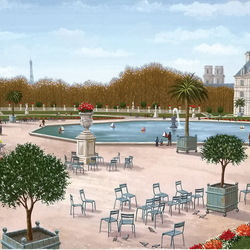Jigsaw puzzle: In the Luxembourg Garden