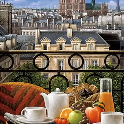 Jigsaw puzzle: Breakfast in Paris