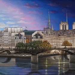 Jigsaw puzzle: Evening over the Seine