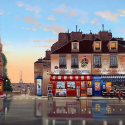 Jigsaw puzzle: Montmartre after the rain