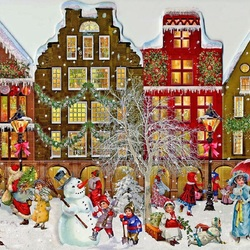 Jigsaw puzzle: Christmas on the street