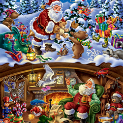 Jigsaw puzzle: Santa at work