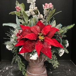 Jigsaw puzzle: Bouquet with poinsettia