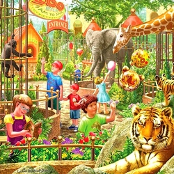 Jigsaw puzzle: Zoo