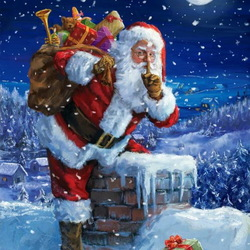 Jigsaw puzzle: Santa Claus at work