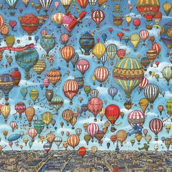 Jigsaw puzzle: And the sky is crowded