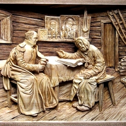 Jigsaw puzzle: Wood carving