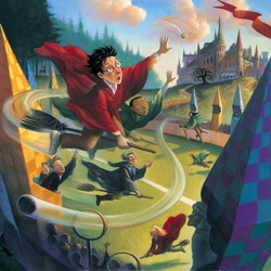 Jigsaw puzzle: Harry catches the snitch