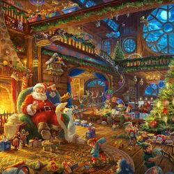Jigsaw puzzle: Santa Claus workshop