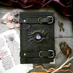 Jigsaw puzzle: Traveler's Purple Stitched Book