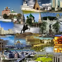 Jigsaw puzzle: Cities of Russia