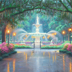 Jigsaw puzzle: Forsyth Park in Savannah