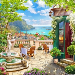 Jigsaw puzzle: Summer cafe