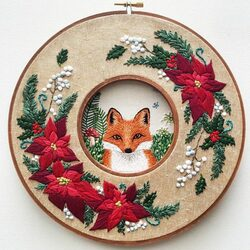 Jigsaw puzzle: Embroidery