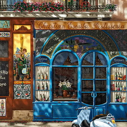 Jigsaw puzzle: Cafe in Barcelona